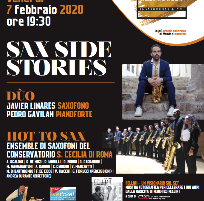 SAX SIDE STORIES Venerdi 7 febbraio 2020