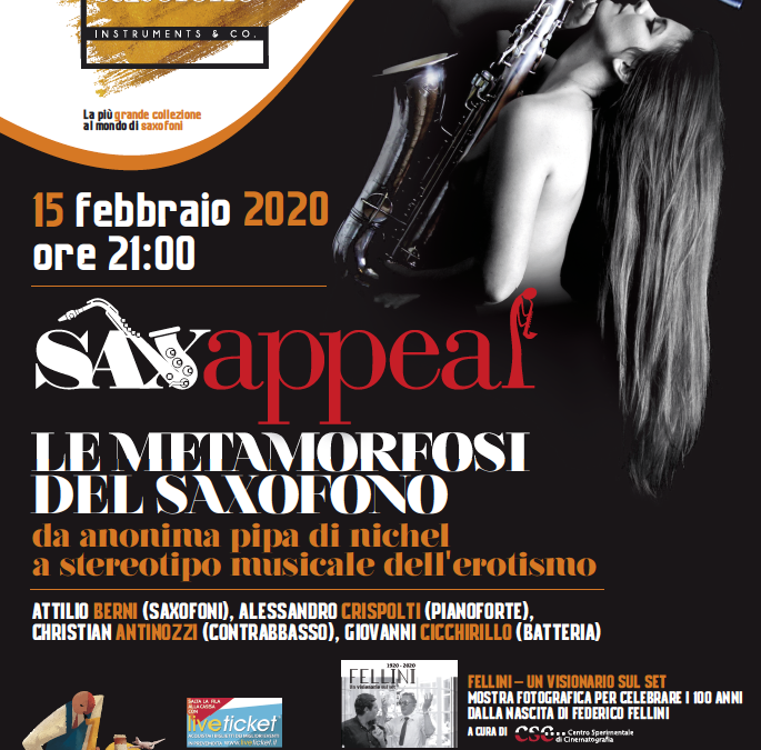 SAXAPPEAL – Sabato 15 febbraio 2020