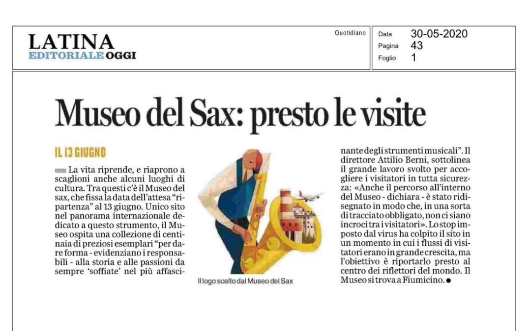 Sabato 13 Giugno riapre il Museo del Saxofono