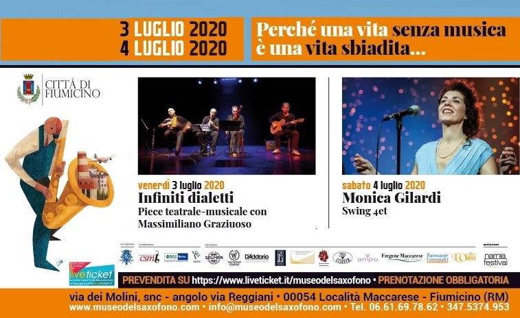 INFINITI DIALETTI e MONICA GILARDI 4et – venerdì 3 e sabato 4 luglio 2020