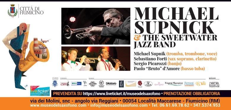 MICHAEL SUPNICK & THE SWEETWATER Jazz Band – Sabato 25 luglio 2020