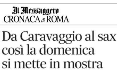 """""""Da Caravaggio al Sax"""" di Valeria Arnaldi – Il Messaggero"""