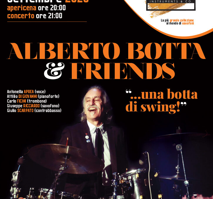 ALBERTO BOTTA & FRIENDS – Sabato 19 settembre 2020