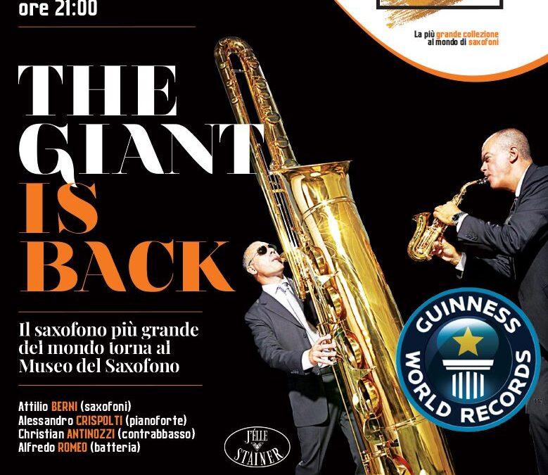 The Giant is Back!! – sabato 17 ottobre 2020